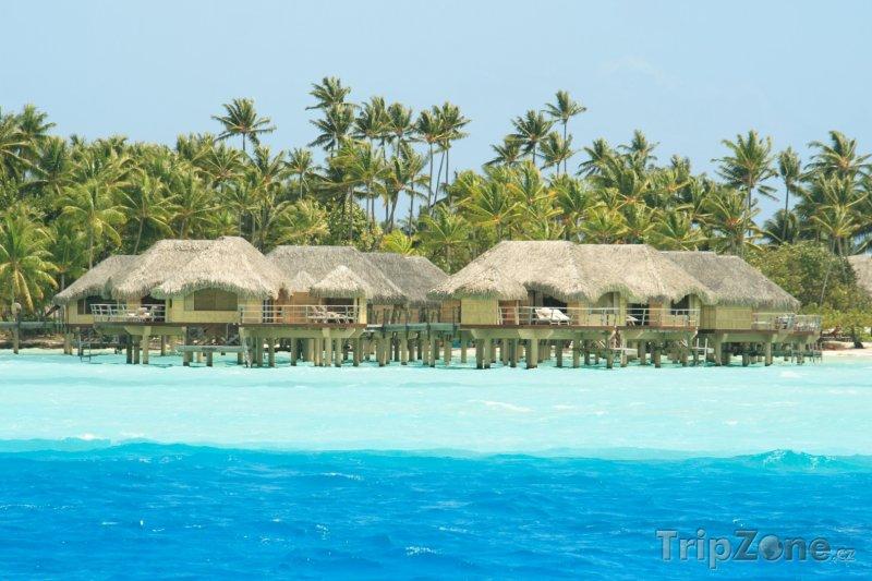 Fotka, Foto Bungalovy u ostrova Tahaa (Francouzská Polynésie)
