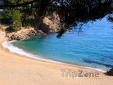 Costa del Maresme, pláž Cala Sant Francesc poblíž Blanes