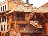 Domy ve městě Bhaktapur