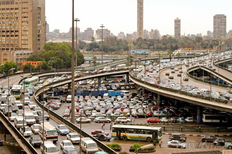 Fotka, Foto Dopravní uzel v Káhiře (Egypt)