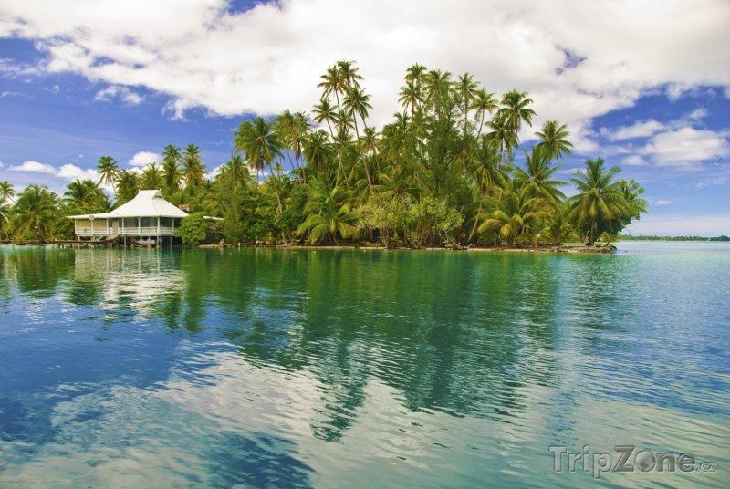 Fotka, Foto Laguna u ostrova Huahine (Francouzská Polynésie)