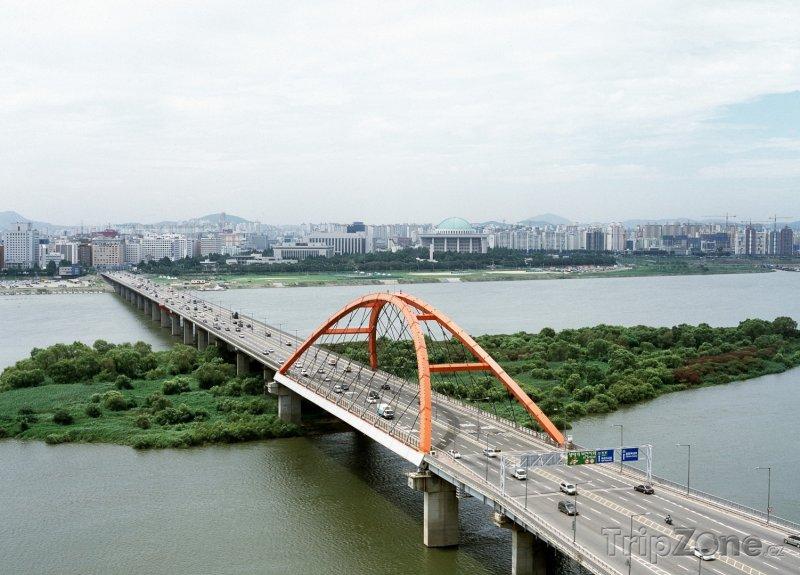 Fotka, Foto Most přes řeku Hangang (Soul, Jižní Korea)
