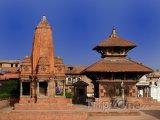 Náměstí Durbar ve městě Bhaktapur