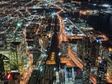 Noční město ze CN Tower