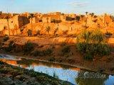 Oáza na poušti Sahara