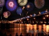 Ohňostroj nad řekou Hangang