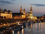 Osvětlená stará část města