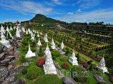 Panoráma botanické zahrady Nong Nooch