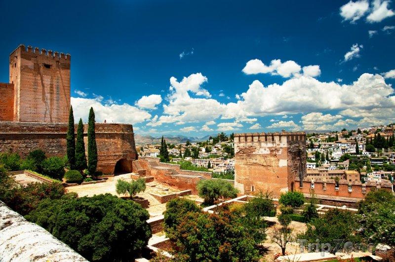 Fotka, Foto Panoráma komplexu Alhambra (Granada, Španělsko)