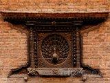 Páví okno ve městě Bhaktapur