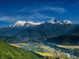 Pohled na horský masiv Annapurna