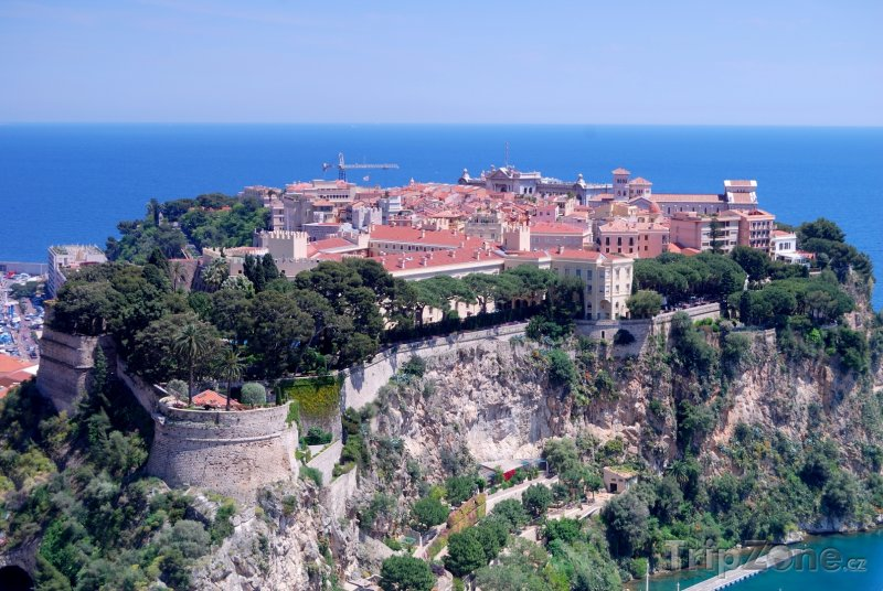 Fotka, Foto Pohled na Monaco-Ville (Azurové pobřeží, Francie)
