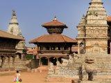 Pohled na náměstí Durbar v Bhaktapuru