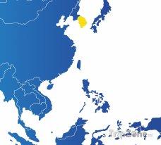 Poloha Jižní Korey na mapě Asie