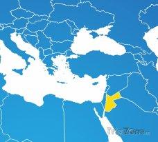 Poloha Jordánska na mapě