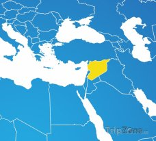 Poloha Sýrie na mapě