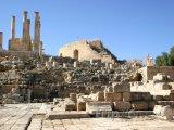 Římské ruiny ve městě Jerash