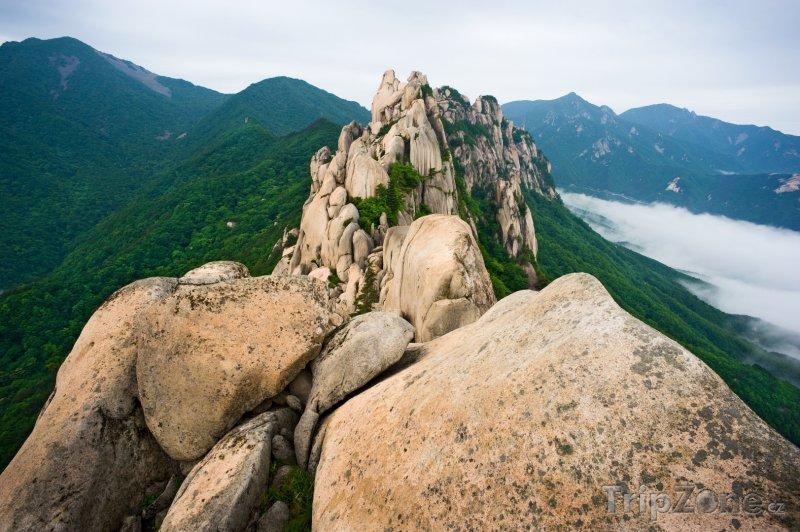 Fotka, Foto Skály Ulsanbawi (Jižní Korea)