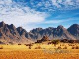 Skály v poušti Namib
