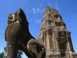 Socha lva v chrámu Angkor Vat