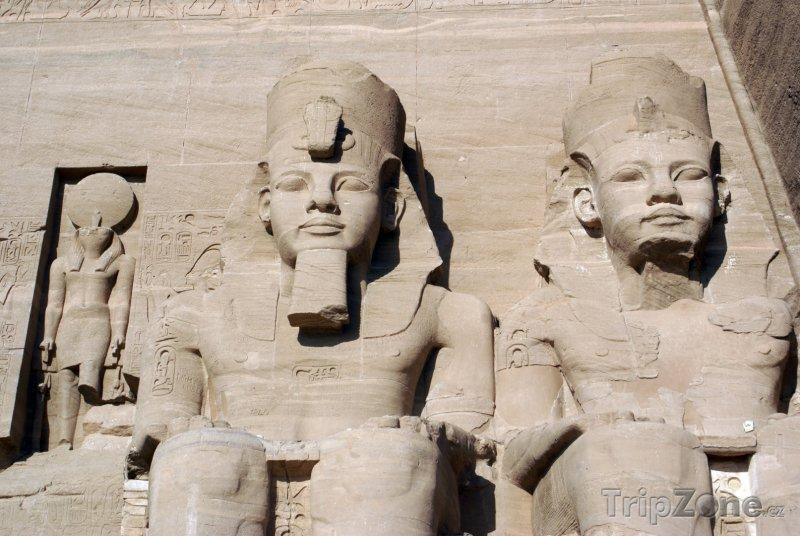 Fotka, Foto Sochy faraonů v Egyptě (Egypt)
