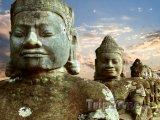 Sochy v chrámu Angkor Vat