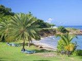 Soukromá pláž na ostrově Antigua