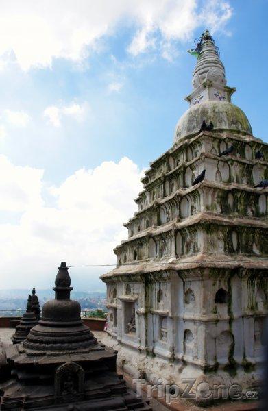 Fotka, Foto Stúpa v komplexu Swayambhunat (Nepál)