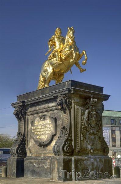 Fotka, Foto Zlatá socha Augustuse II. Silného (Drážďany, Německo)