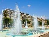 Fontána na náměstí Place Masséna