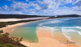 Fraser Island z útesu Indian Head