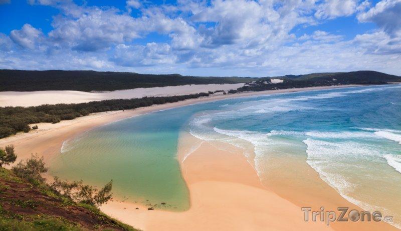 Fotka, Foto Fraser Island z útesu Indian Head (Austrálie)