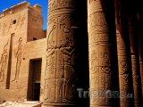 Hieroglyfy na chrámu Philae