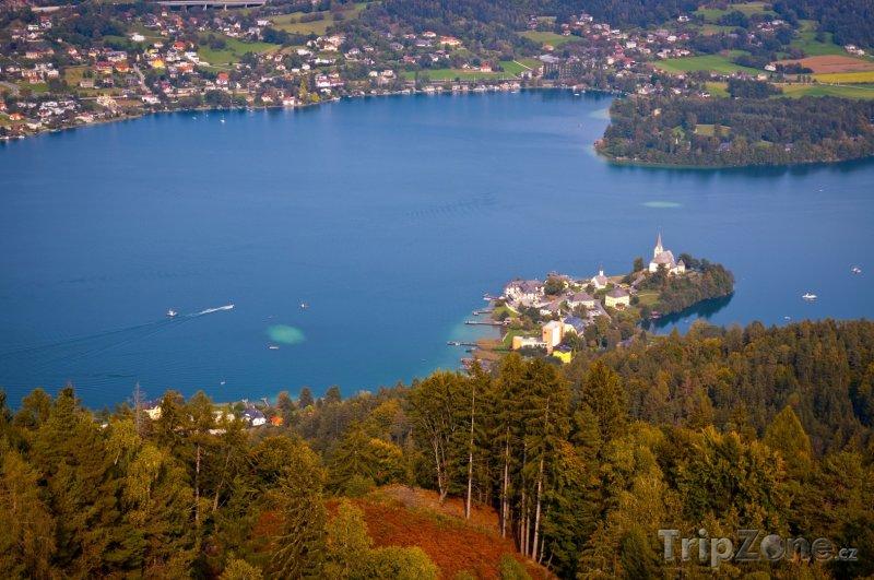 Fotka, Foto Jezero Wörthersee u Klagenfurtu (Rakousko)