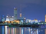 Město Kuvajt v noci