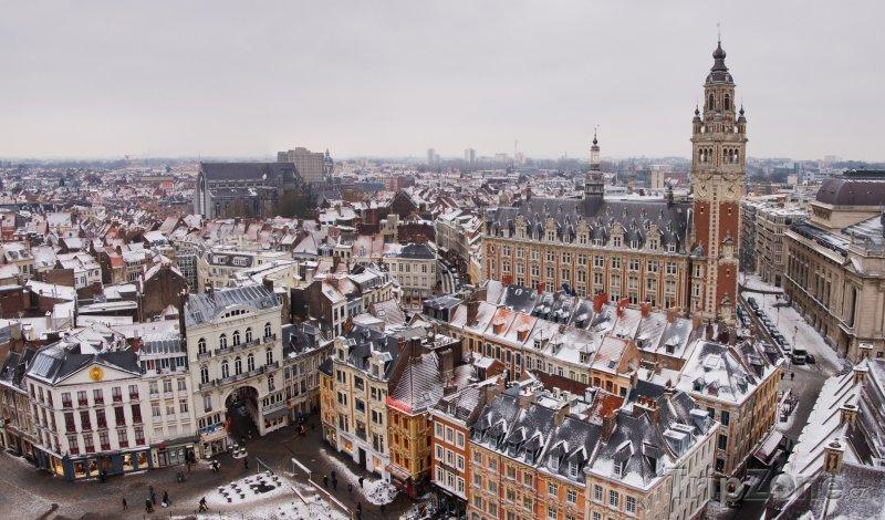 Fotka, Foto Panoráma města Lille (Francie)