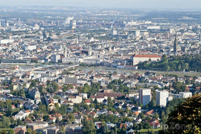 Fotka, Foto Panoráma města Linec (Rakousko)
