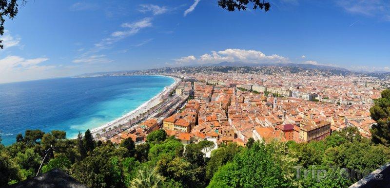 Fotka, Foto Panoramatický pohled na město (Nice, Francie)