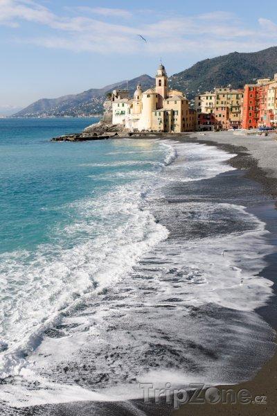Fotka, Foto Pláž v Camogli (Janov, Itálie)