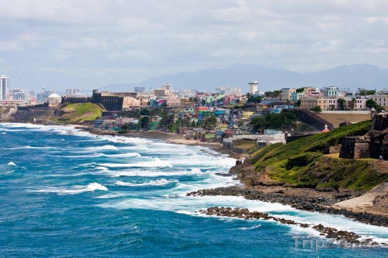 Fotka, Foto Pobřeží města San Juan (Portoriko)