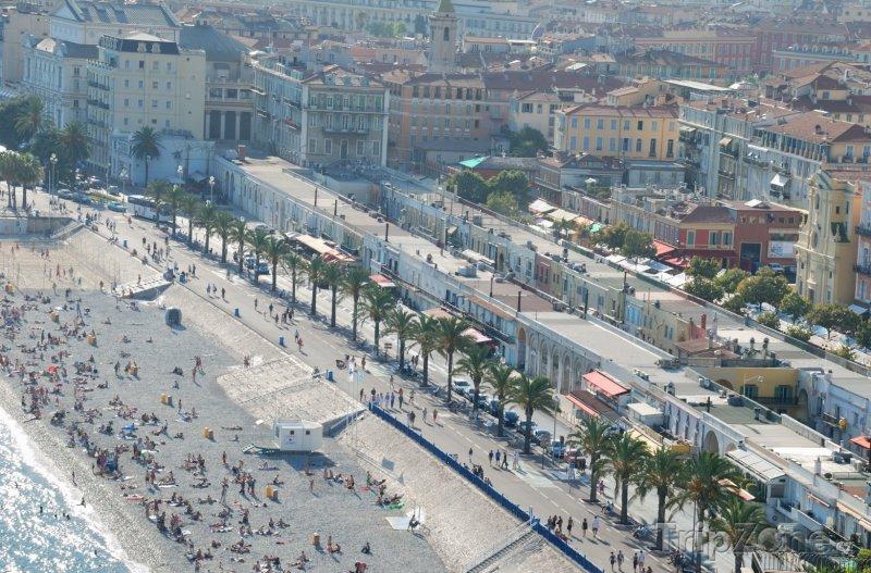 Fotka, Foto Pohled na Anglickou promenádu (Nice, Francie)