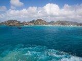 Pohled na Guadeloupe z lodi