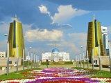 Pohled na prezidentský palác v Astaně