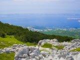 Pohled z hory na město Rab