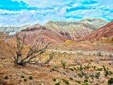 Pohoří Aktau v národním parku Altyn-Emel
