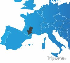 Poloha Andorry na mapě Evropy