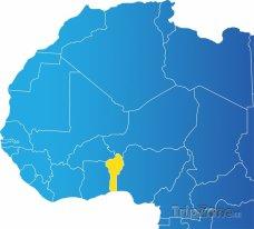 Poloha Beninu na mapě Afriky