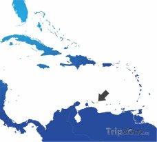 Poloha Bonaire na mapě Jižní Ameriky