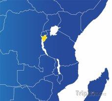 Poloha Burundi na mapě Afriky