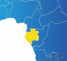 Poloha Gabonu na mapě Afriky